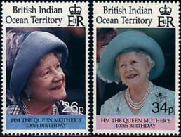 Ref. 60330 * NEW *  - BRITISH INDIAN OCEAN TERRITORY . 2000. CENTENARY OF THE QUEEN MOTHER. CENTENARIO DE LA REINA MADRE - British Indian Ocean Territory (BIOT)