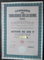 Cie Des Sablières De La Seine    G.S.S Action 100 FR - Aandelen
