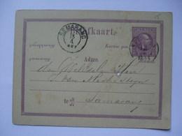 NETHERLANDS INDIES 1887 Postal Stationary Card - Semarang Postmark - Klaling Suikerfabriek Cachet - Indie Olandesi