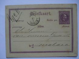 NETHERLANDS INDIES 1885 Postal Stationary Card - Indes Néerlandaises