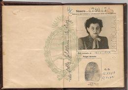 ARGENTINA 1947 PASSPORT- PASSEPORT -multiple VISAS -  Rare CUBA REVENUE STAMP - MEXICO - BRASIL - BOLIVIA - CANADA -USA - Documentos Históricos
