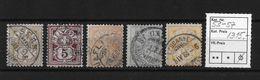 1882 ZIFFERMUSTER Weisses Papier Form A   ►SBK-53 - 57◄ - 1882-1906 Armoiries, Helvetia Debout & UPU