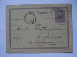 NETHERLANDS INDIES 1883 Postal Stationary Card Soerabaja Postmark - Indie Olandesi