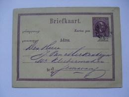 NETHERLANDS INDIES 1883 Postal Stationary Card Semerang Postmark - Indie Olandesi
