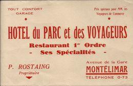 MONTELIMARD . HOTEL DU PARC - Blotters