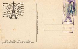 Timbre Avec Tampon  1944...souvenir De La Tour Eiffel... - Eiffelturm