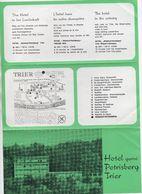 A4 Size Advertising Sheet For HOTEL GARNI PETRISBERG TRIER - GERMANY X 2 - Advertising