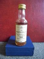 RARE MIGNONNETTE WHISKY The MACALLAN 1966 - 1985 Old Scotch Mini Bottle Collection 5cl Pour 43% Distillé En Ecosse - Miniatures
