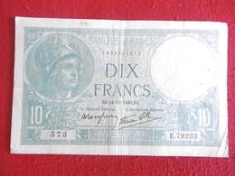 BILLET 10 FRANCS MINERVE-14.11.1940-N°573/E.79233 - 1871-1952 Anciens Francs Circulés Au XXème