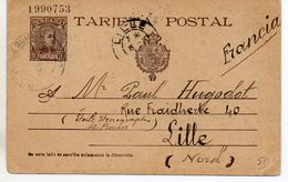 ESPAGNE - ENTIER POSTAL - 1903 - Pour La France - Stamped Stationery