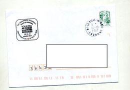 Lettre Cachet La Ville Du Bois  Sur Roulette - Marcophilie (Lettres)