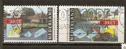 Pays-Bas Netherlands 1991 Fermes Avec Timbre Du Carnet Farm Stamps (1 From Booklet) Obl - Booklets