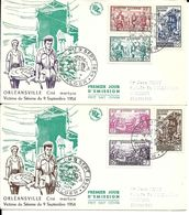 2 FDC . Poste Algérie 1954. - Algeria (1924-1962)