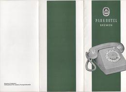 ADVERTISING BROCHURE FOR PARK HOTEL BREMEN GERMANY - Advertising