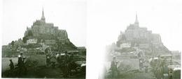 463 - Plaque De Verre - Région Bretagne, Le Mont Saint Michel - Glasplaten