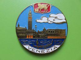 107 - Aimant De Frigo - Venise - Blason - Laiton Et émaux Laqués - Tourisme