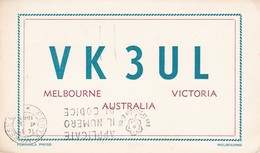CARTOLINA - POSTCARD - AUSTRALIA - MELBOURNE - VITORIA - RADIO AMATORI - Melbourne