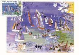 Carte-Maximum FRANCE N° Yvert 3668 (Raoul DUFY) Obl Sp Limoges-Fleurus (Ed Castelet - Tableau Au Musée De Limoges) - Cartoline Maximum