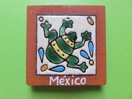 108 - Aimant De Frigo - Magnet - Mexico - Grenouille - Carreau Céramique - Tourism