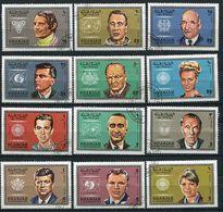 Sharjah Ob Michel N° 527 A à 538 A  - Personnalités : Astronautes, Sportifs, Politiques - - Sharjah