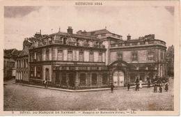 Cpa 62 BETHUNE  1914 Hôtel Du Marquis De Baynast (avant Les Bombardements 1ère Guerre Mondiale) Sépia, Dos Vierge - Bethune