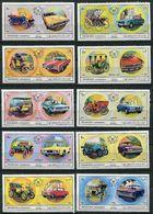 Sharjah * Michel N° 770 A à 774 A, 781 A à 785 A -Automobiles Européennes Et Américaines - - Sharjah