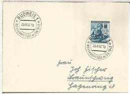 BOHEMIA Y MORAVIA 1942 BUDWEIS WEHRKAMPFTAGE DER SA SELLO ENFERMERA NAZISMO - Bohemia Y Moravia