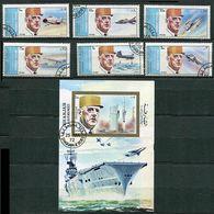 Sharjah Ob Michel N° 882 A à 887 A + Bloc 96 - C. De  Gaulle Et Sites De Paris - Sharjah