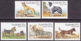 AUSTRALIA 1980 Dogs, Animals MNH, Mi# 700-04 - 1980-89 Elizabeth II