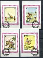 (CL 122 B) Sharjah Ob Michel N° 1224 à 1227 En 4 Mini-blocs - Dessins D'enfants - Sharjah