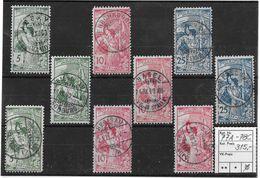 1900  2. Juli, 25 Jahre Weltpostverein / Jubilé De L'U.P.U. Mit ZT.guten Stempel ►SBK-77A-78C◄ - Oblitérés