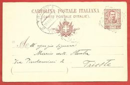 CARTOLINA POSTALE VG ITALIA - Tipo Floreale Vittorio Emanuele III - ANN. 1906 TRIESTE - S. CP30 MILLESIMO 05 - 1900-44 Vittorio Emanuele III