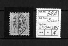 1882 - 1906 STEHENDE HELVETIA Gezähnt → Rundstempel St.Gallen  ►SBK-89A◄ - Oblitérés