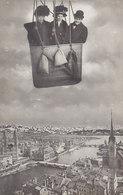 Im Ballon über Zürich - 2 Frauen & 1 Mann Im Korb         (P-129-50127) - ZH Zurich