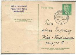 ALEMANIA DDR ENTERO POSTAL FÜRSTENWALDE 1956 - Postales - Usados