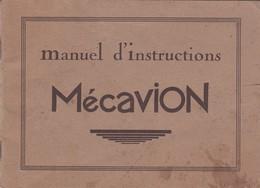 MECAVION, Manuel D'instructions Avec Détail Des Pièces Et Illustration Des 17 Modèles Existants - Autres