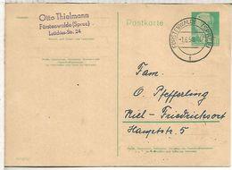 ALEMANIA DDR ENTERO POSTAL FÜRSTENWALDE 1958 - Postales - Usados
