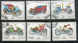 CL 122 B) Sharjah Ob Michel N° 1332 à 1337 - Histoire De L'automobile - - Sharjah