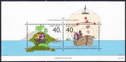 CAPE VERDE 1992 Discovery Of America, Columbus MNH, Mi# Bl.20 - Kaapverdische Eilanden