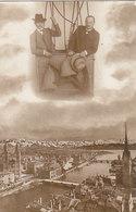 Im Ballon über Zürich - 2 Herren Im Korb - 1909        (P-129-50127) - ZH Zurich