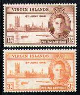 BRITISH VIRGIN ISLANDS 1946 - Set MNH** - British Virgin Islands