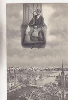 Im Ballon über Zürich - 1 Mann Mit Winktuch - Schützenfeststempel - 1910        (P-129-50127) - ZH Zurich