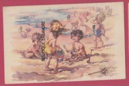 Enfants Jouant Sur La Plage--façon Germaine Bouret----Illustrateur Non Lisible - Illustrateurs & Photographes