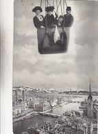 Im Ballon über Zürich - 2 Frauen, 1 Kind - 1 Mann Im Korb - 1910        (P-129-50127) - ZH Zurich