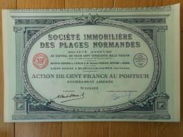 Immobiliere Des PLAGES NORMANDES            Blonville Sur Mer  Calvados - Shareholdings