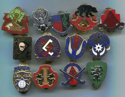 Lot L28 De 13 Insignes US DI CREST - Esercito