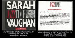 60 Minuten Jazz Von Sahra Vaughan - Jazz Of Finest - From 1945 - 82 - Jazz