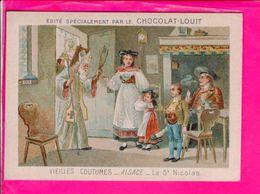 Image 12 X 8,5 Cm Chocolat Louit  Alsace La St Nicolas - Autres