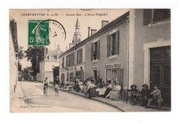 Chartrettes Seine Et Marne. Grande Rue. L'hôtel Piquet. Pension De Famille. Vélos. - Autres Communes