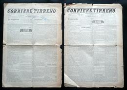 Corriere Tirreno 2 Numeri Completi Anno I N.49-51 Livorno 9-10/8 11-12/8 1905 - Libri, Riviste, Fumetti